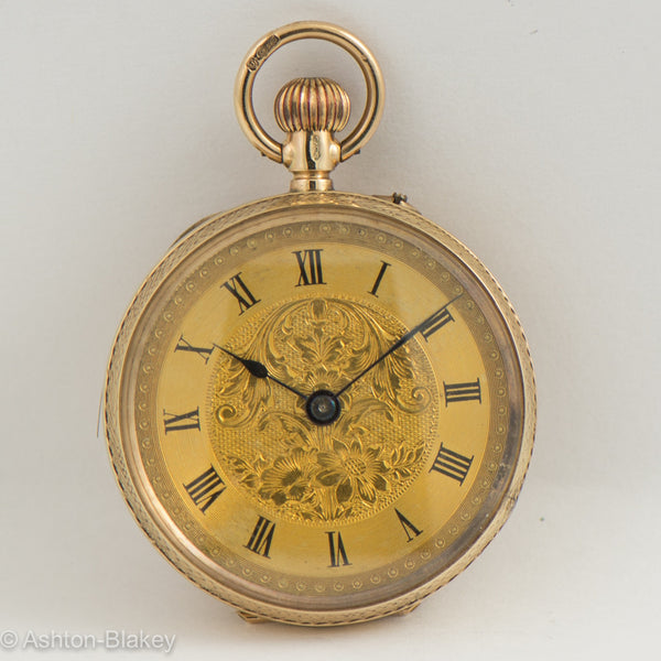 ENGLISH   9K Gold Pocket Watch Pocket Watches - Ashton-Blakey Vintage Watches