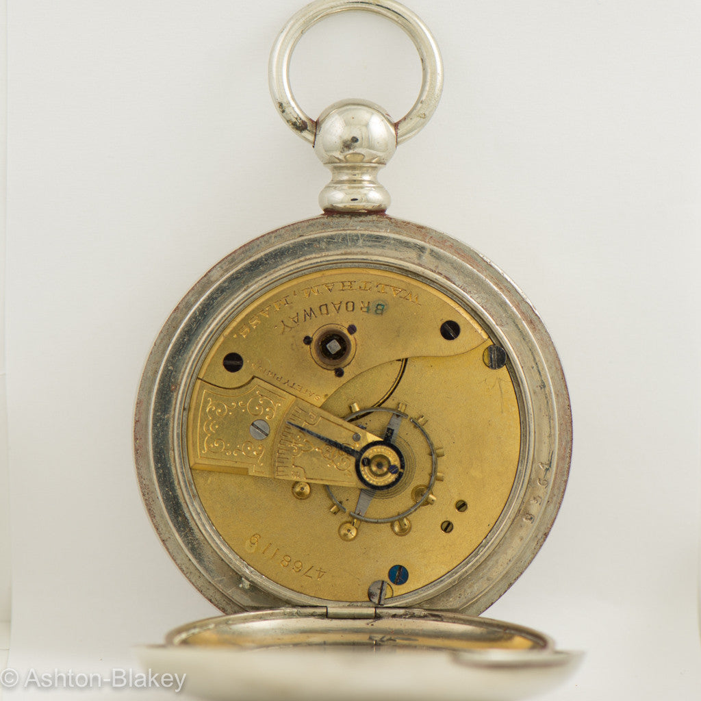 "WALTHAM ""BROADWAY' open faced Pocket Watch Pocket Watches - Ashton-Blakey Vintage Watches"