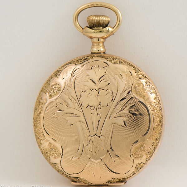 WALTHAM gold filled hunting cased lady's size 6 Pocket Watch