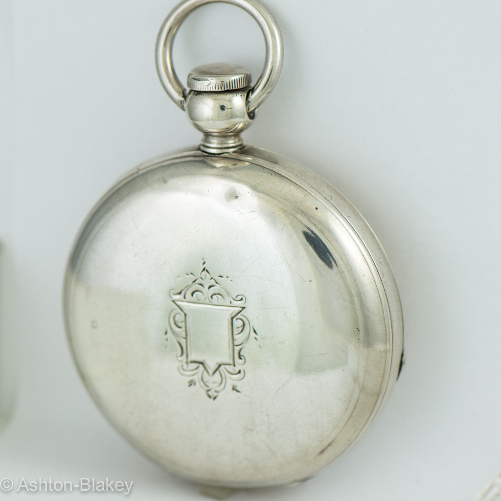 "WALTHAM Waltham ""Broadway"" Silver Vintage Pocket Watch"