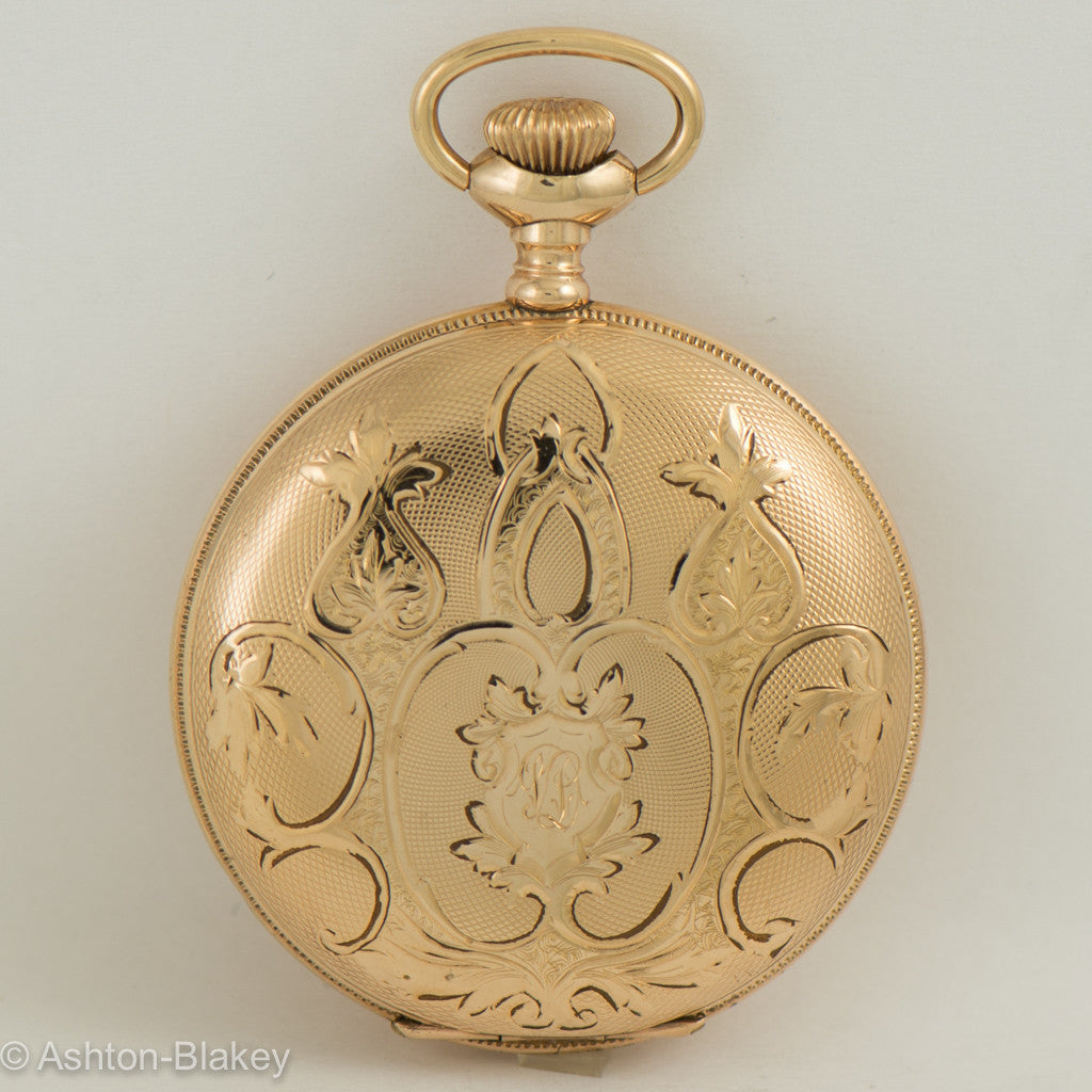"Waltham gold filled lady""s size six hunting cased Pocket Watch Pocket Watches - Ashton-Blakey Vintage Watches"