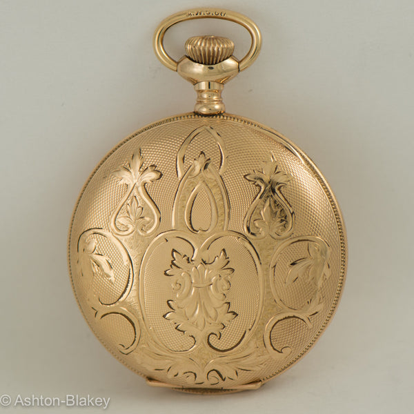 "Waltham gold filled lady""s size six hunting cased Pocket Watch"