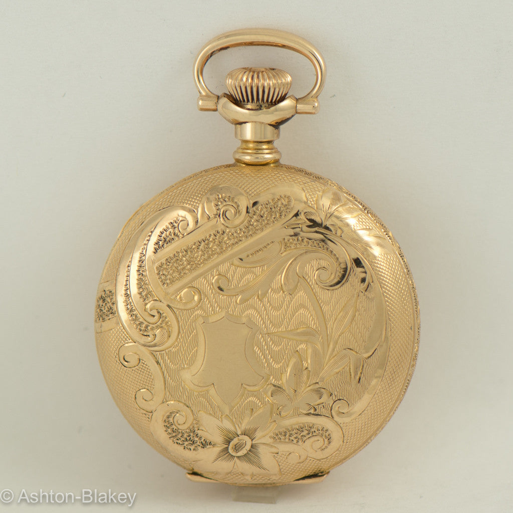 WALTHAM lady's 14K gold  hunting cased Pocket Watch