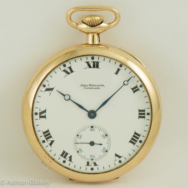BALL 14K GOLD POCKET WATCH Pocket Watches - Ashton-Blakey Vintage Watches