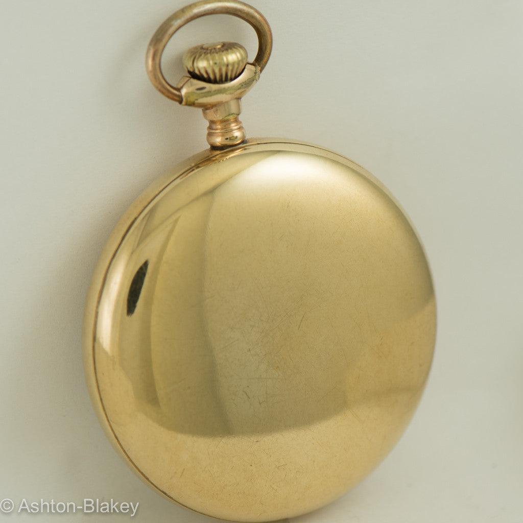 WALTHAM man's gold filled 17 jewel Pocket Watch