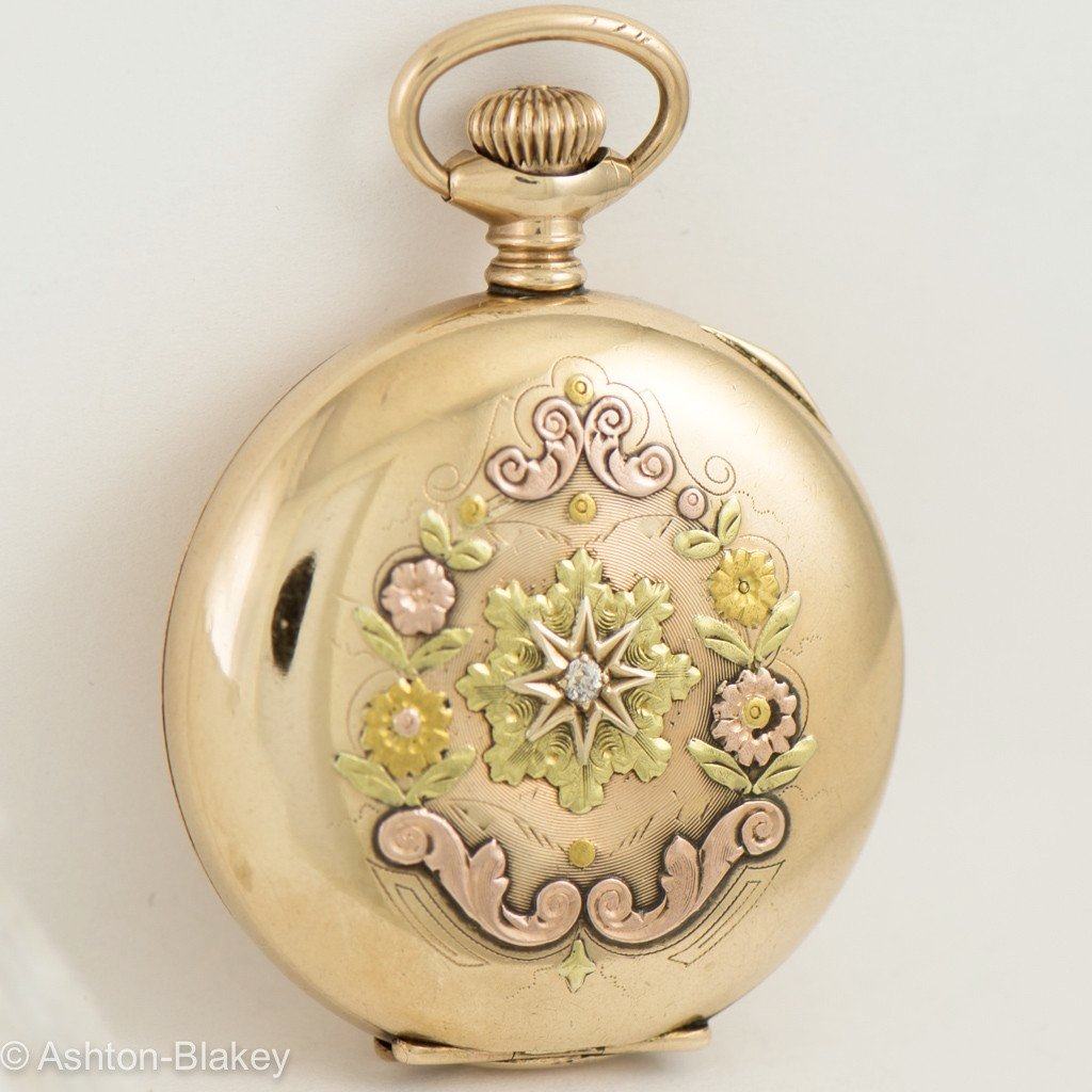 WALTHAM Multi Color 14K gold filled Pocket Watch Pocket Watches - Ashton-Blakey Vintage Watches