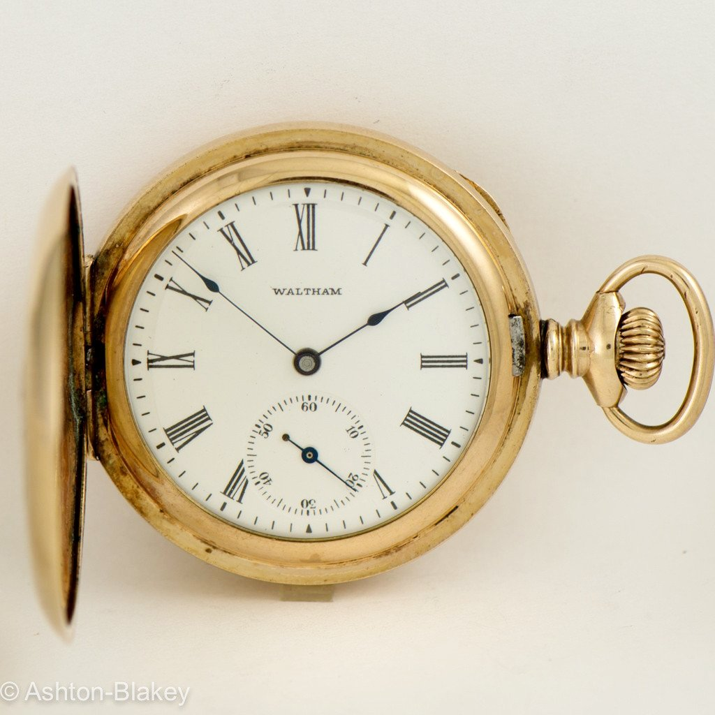 WALTHAM Multi Color 14K gold filled Pocket Watch