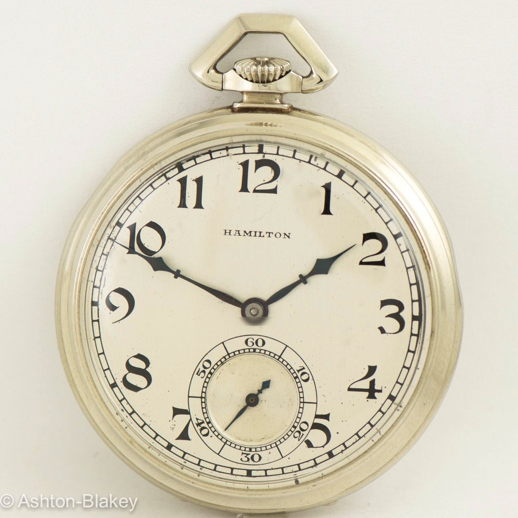 HAMILTON 14K Gold Pocket Watch Vintage Watch