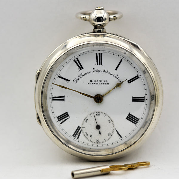 ENGLISH Sterling Silver Pocket Watch Pocket Watches - Ashton-Blakey Vintage Watches