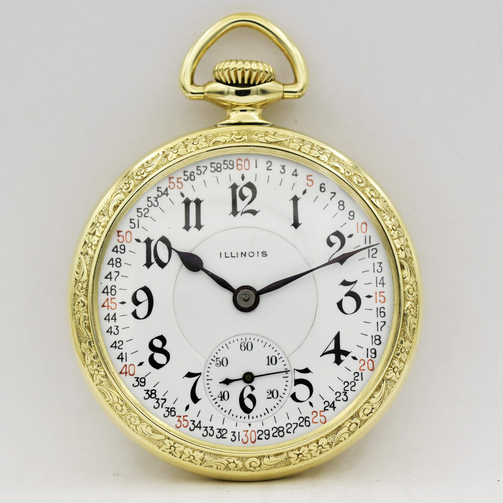 ILLINOIS RAILROAD Pocket Watch Pocket Watches - Ashton-Blakey Vintage Watches