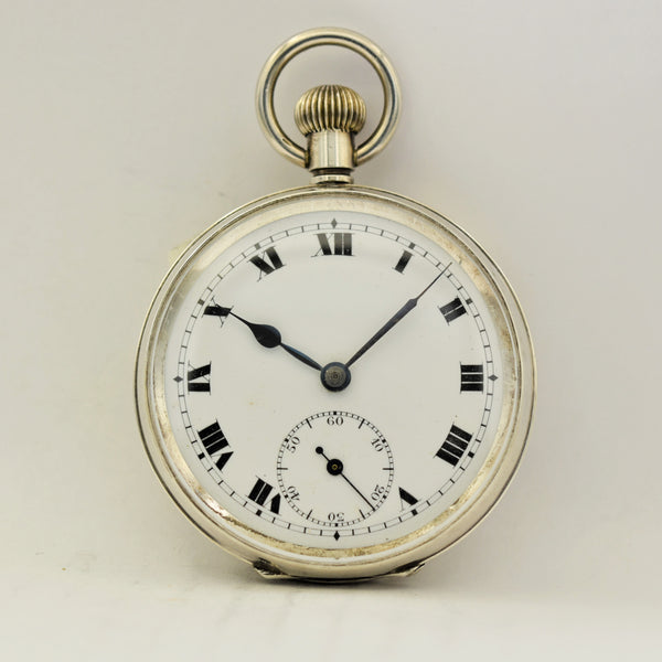 SWISS Silver Pocket Watch Pocket Watches - Ashton-Blakey Vintage Watches