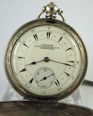 LONGINES silver Pocket Watch Pocket Watches - Ashton-Blakey Vintage Watches