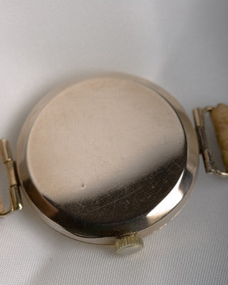 ROLEX 9K gold officer's watch Vintage Watch Vintage Watches - Ashton-Blakey Vintage Watches