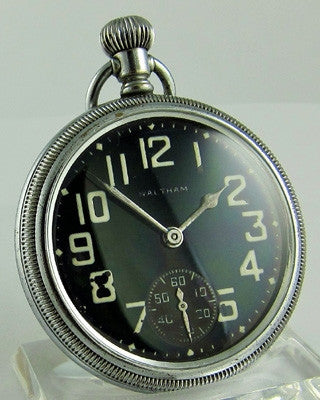WALTHAM PREMIER MILITARY WWII Pocket Watch