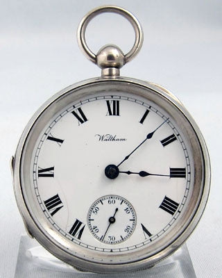 WALTHAM Sterling silver open faced man's Pocket Watch Pocket Watches - Ashton-Blakey Vintage Watches