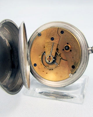 WALTHAM Sterling silver open faced man's Pocket Watch
