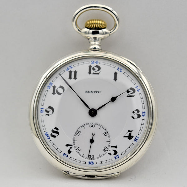 ZENITH Sterling Silver Pocket Watch Pocket Watches - Ashton-Blakey Vintage Watches