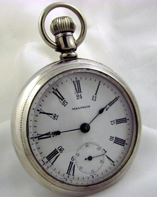 WALTHAM  Sterling Silver Pocket Watch Pocket Watches - Ashton-Blakey Vintage Watches