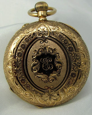ENGLISH 18K GOLD – open faced Fancy Pocket Watch