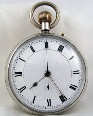 ENGLISH Men's vintage sterling silver Pocket Watch Pocket Watches - Ashton-Blakey Vintage Watches