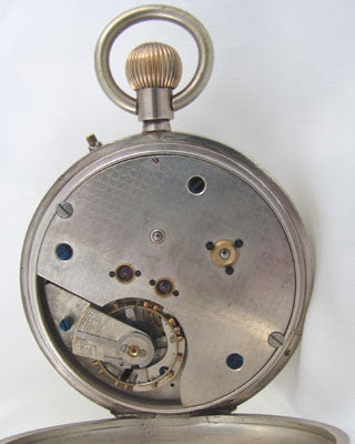 ENGLISH Men's vintage sterling silver Pocket Watch
