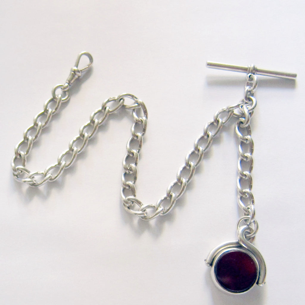 ENGLISH WATCH CHAIN WITH SWIVEL FOB