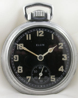 ELGIN MILITARY POCKET WATCH FOR ROYAL CANADIAN NAVY