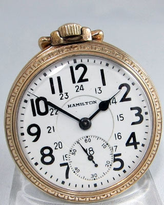 HAMILTON 992B Railroad Pocket Watches - Ashton-Blakey Vintage Watches