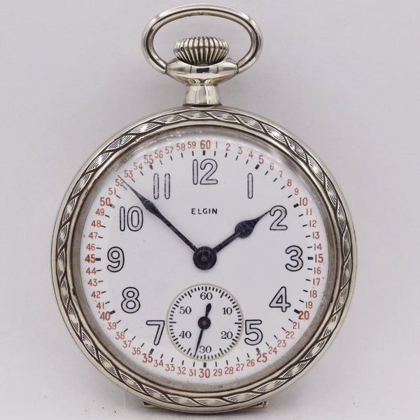 ELGIN MILITARY POCKET WATCH  WWII