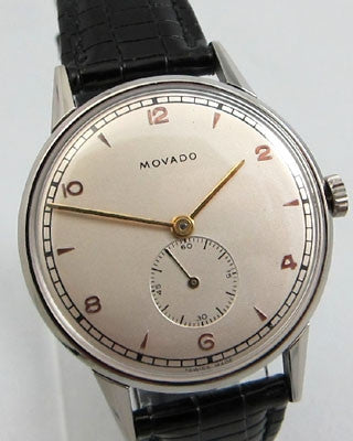 MOVADO STAINLESS STEEL Vintage Watch Wrist Watches - Ashton-Blakey Vintage Watches