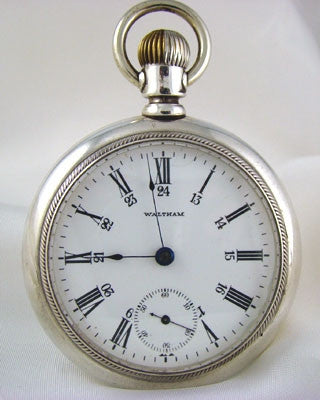 WALTHAM  Silver Men's  Vintage Pocket Watch Pocket Watches - Ashton-Blakey Vintage Watches