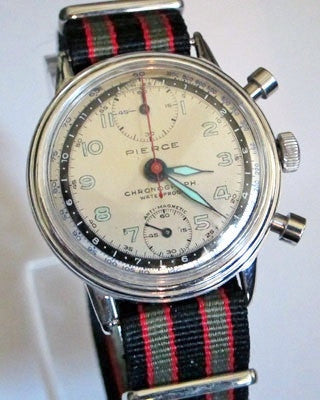 PIERCE CHRONOGRAPH Vintage Watch Vintage Watches - Ashton-Blakey Vintage Watches