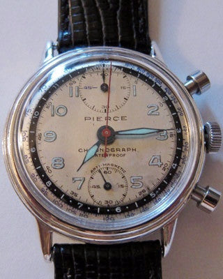 PIERCE CHRONOGRAPH Vintage Watch Wrist Watches - Ashton-Blakey Vintage Watches