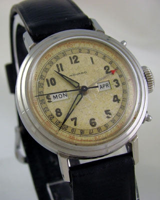 MOVADO Triple date calendar Vintage Watch Wrist Watches - Ashton-Blakey Vintage Watches