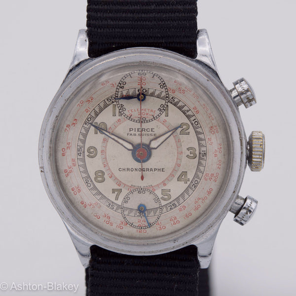Pierce Chronograph Wrist Watches - Ashton-Blakey Vintage Watches