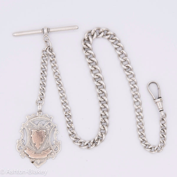 ENGLISH STERLING POCKET WATCH CHAIN Watch chains - Ashton-Blakey Vintage Watches