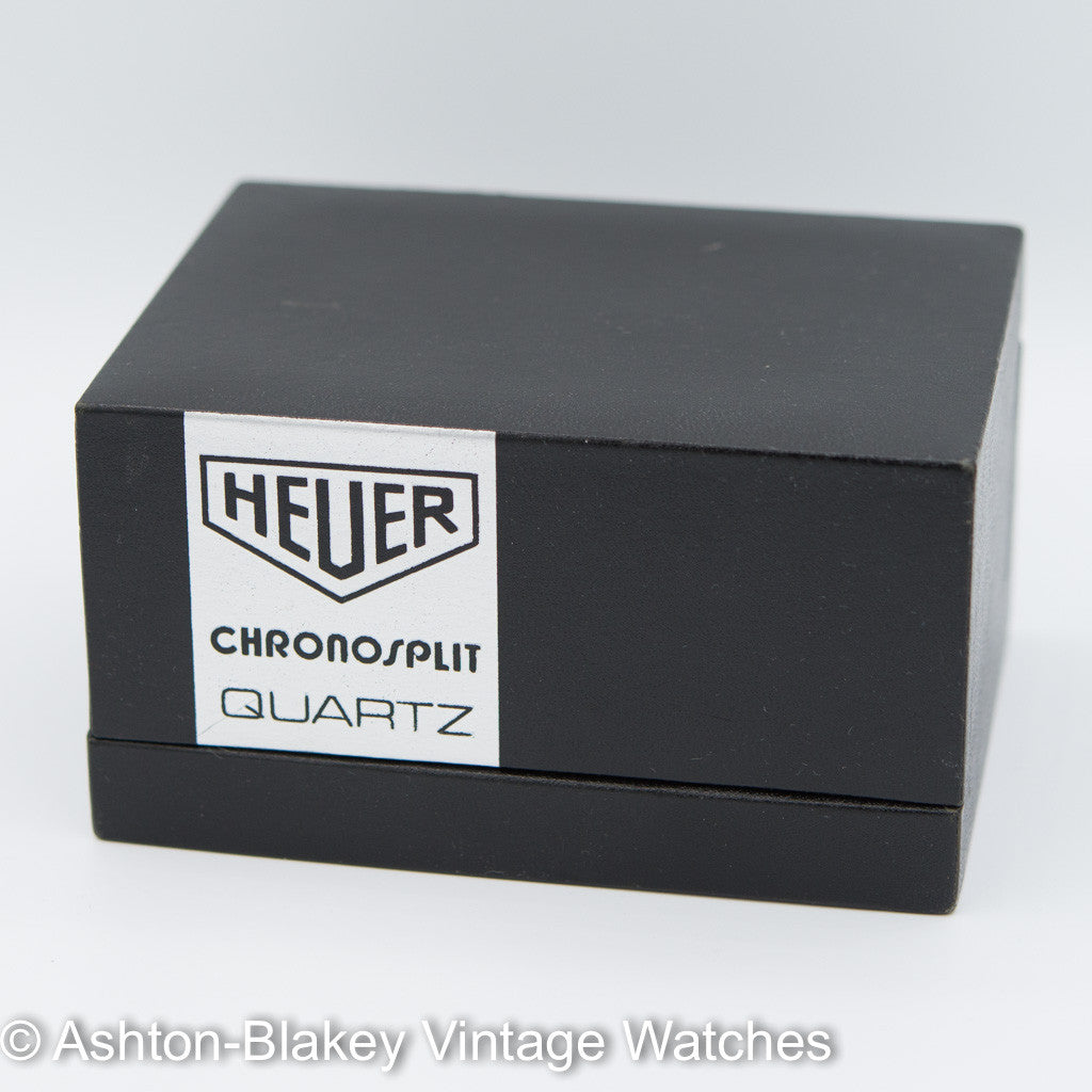 HEUER CHRONOSPLIT LCD/LED WATCH