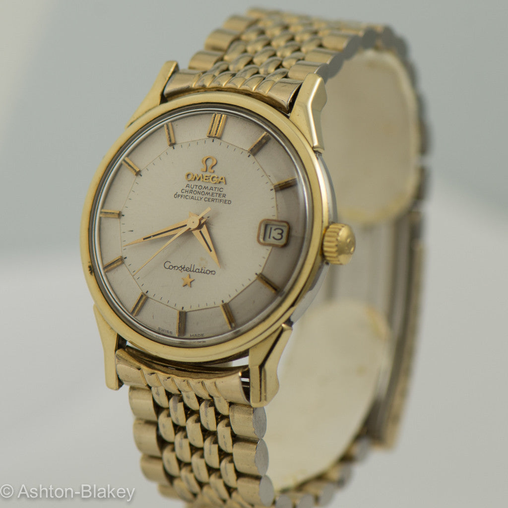 OMEGA  CONSTELLATION PIE PAN CHRONOMETER Wrist Watches - Ashton-Blakey Vintage Watches