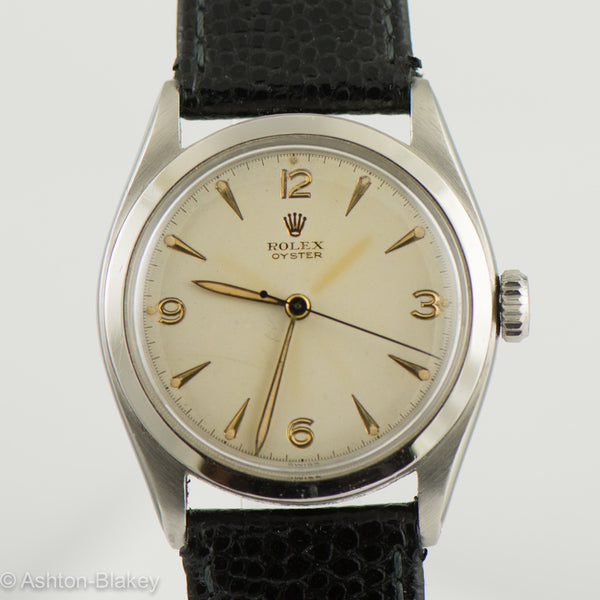ROLEX Oyster stainless steel  Vintage Watch Vintage Watches - Ashton-Blakey Vintage Watches
