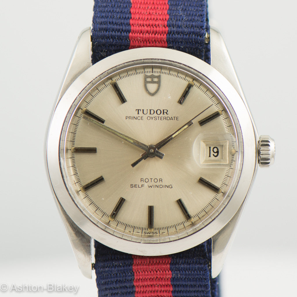 TUDOR PRINCE OYSTERDATE -By Rolex Stainless Steel Vintage Watch Vintage Watches - Ashton-Blakey Vintage Watches