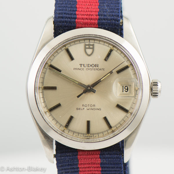 TUDOR PRINCE OYSTERDATE -By Rolex Stainless Steel Vintage Watch