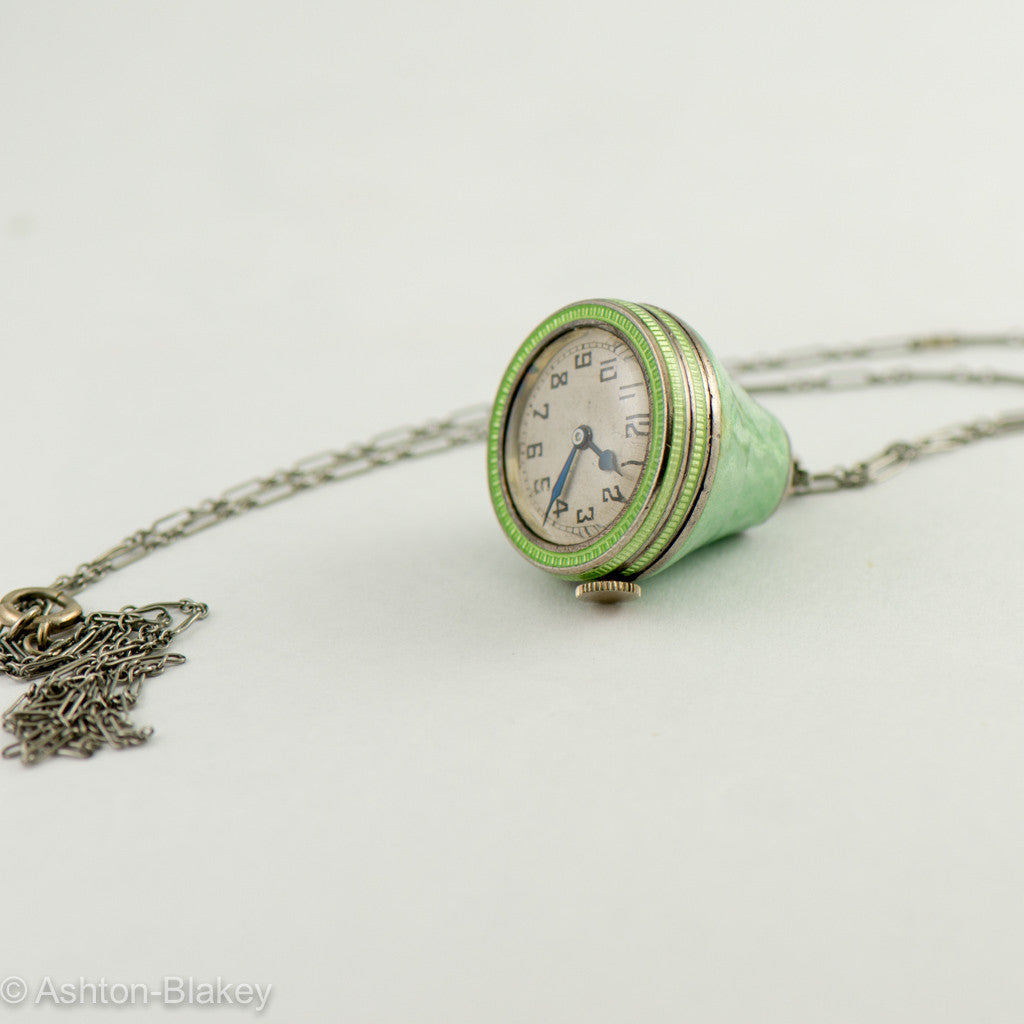 MIMO Enamel vintage watch on chain Vintage Watches - Ashton-Blakey Vintage Watches