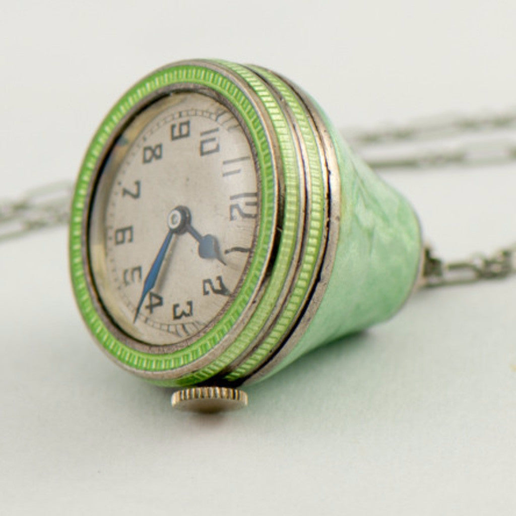 MIMO Enamel Watch on Chain Vintage Watch