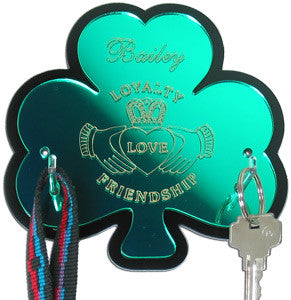 Claddagh Shamrock Leash Holder