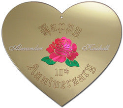 Anniversary Heart Wall Mirror