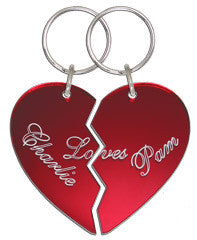 Romantic Heart Keychain