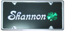 Irish Shamrock License Plate