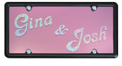 Custom License Plate with 2 Names