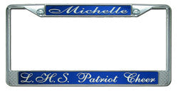 Cheerleader License Plate Frame