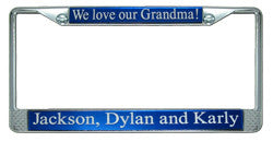 Grandparent's Custom License Plate Frame